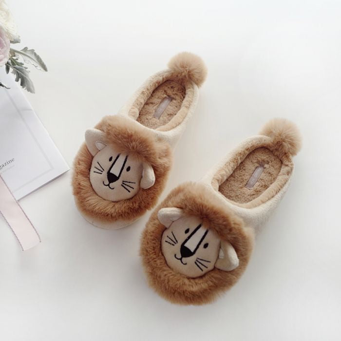 FLUFFY LION SLIPPERS