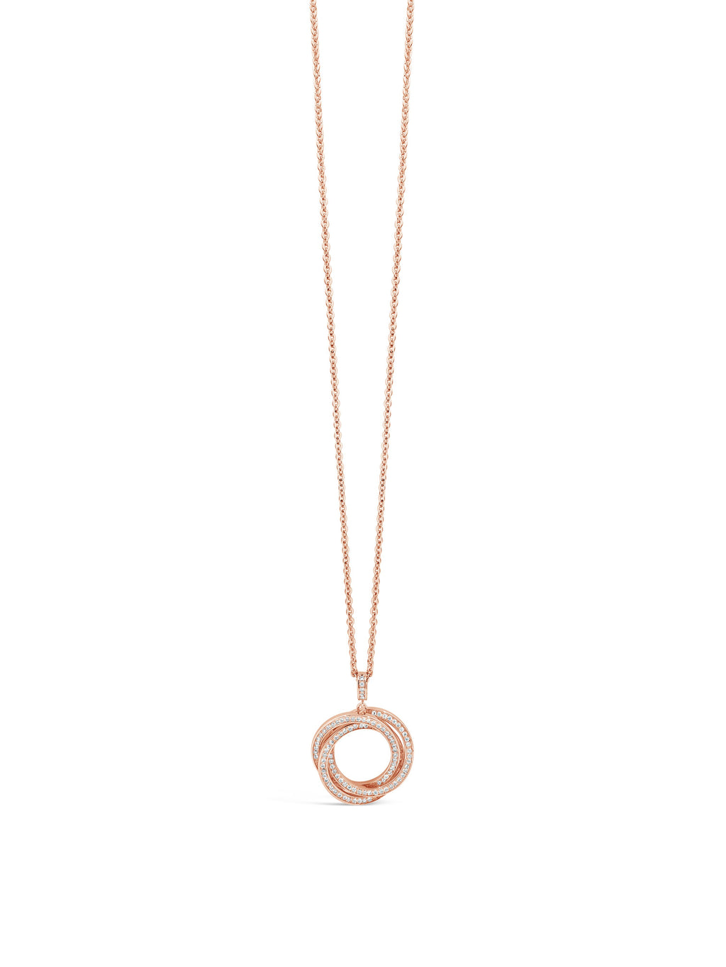 absolute triple circle rose gold pendant