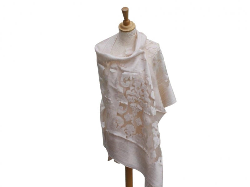SIMPLE LACE WRAP/SHAWL-  VISCOSE-COTTON-SILK