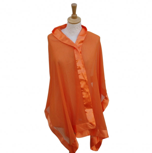 OUR BEST SELLING SILK SHAWL-WRAP SILK WITH SATIN TRIM