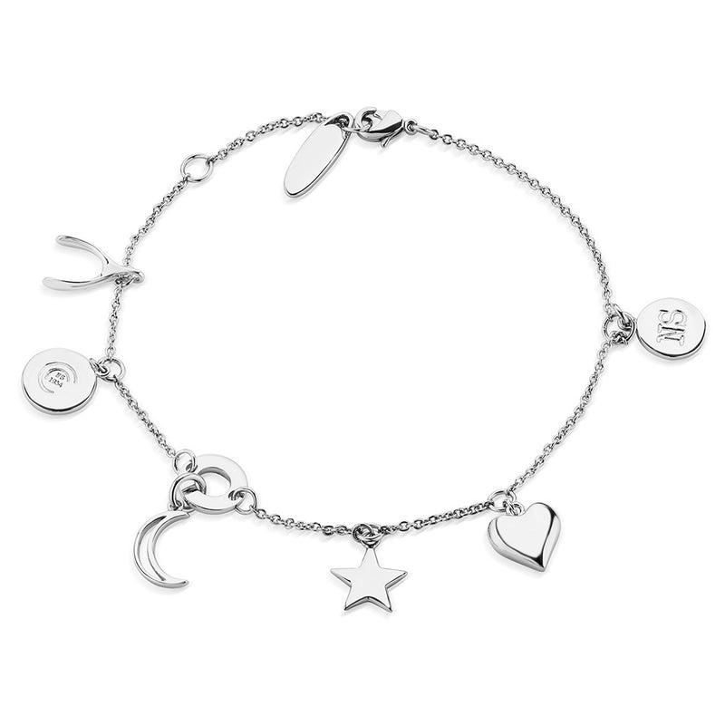 NEWBRIDGE AMY COLLECTION SILVER SUN MOON & STARS BRACELET BL010
