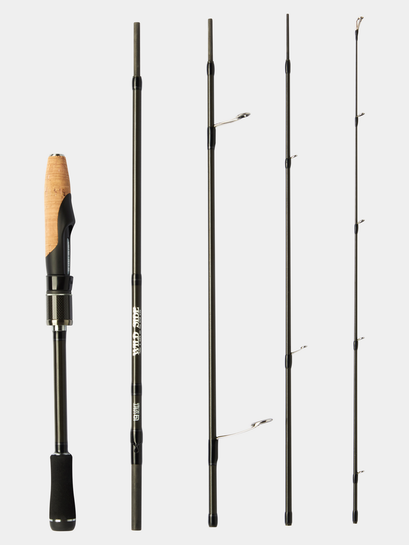 "WILD SIDE 6'10"" Medium Light Spinning Rod (5 Piece)"