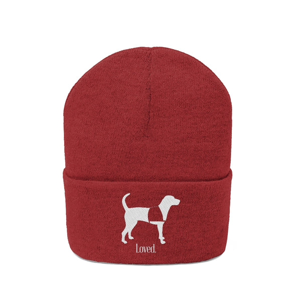 Knit Beanie Red Service Dog