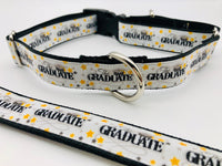 Dog Collar Graduate Confetti Flat/Martingale Deluxe Optional Bringsel