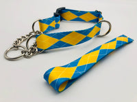 Service dog 1/2 Check collar Argyle