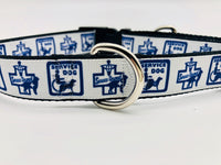 Dog Collar Flat/Martingale Deluxe Optional Bringsel Service Dog/Service Animal