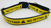 Service Dog Collar No Petting Martingalw
