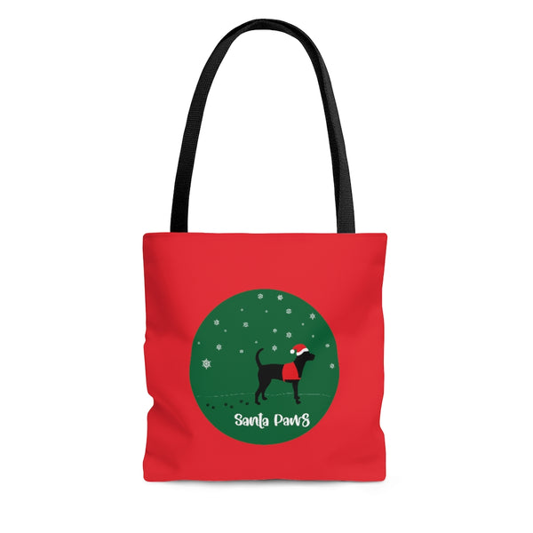 Labrador Service Dog Tote Black on Red