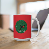 Dog Mug Black Lab Santa Paws Mock up 15oz