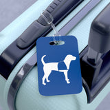 Bag Tag Service Dog Blue on luggage