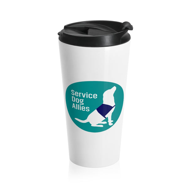 Dog Travel Mug with Lid Color Logo