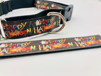 Dog Collar Flat/Martingale Collar Deluxe Optional Bringsel Happy Halloween