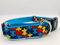 Service Dog Collar Puzzle Pieces Martingale