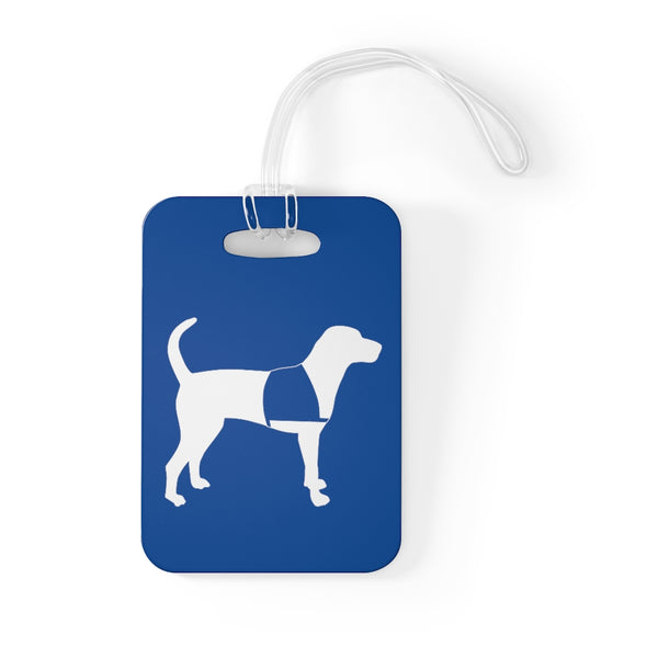 Bag Tag Service Dog Blue