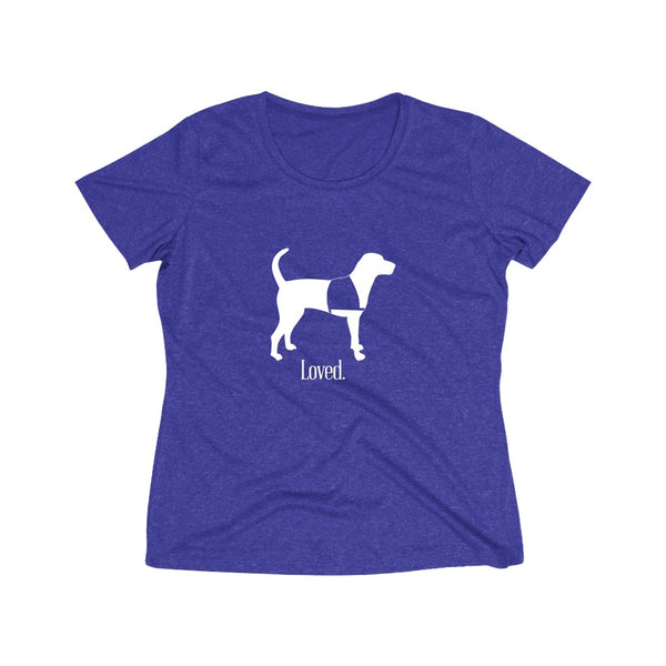 "Wicking T Shirts  ""Standing Service Dog Loved"". 5 Colors Women's"
