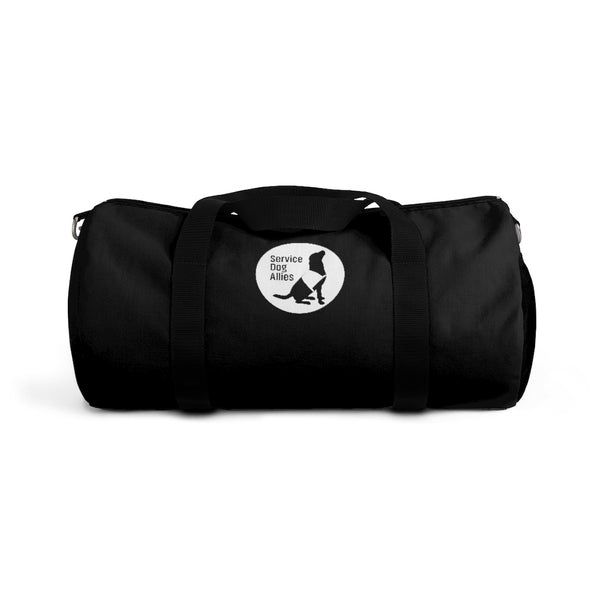 Personalized dog Duffel Bag Service Dog Allies Black/White 2 Sizes