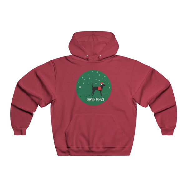 Black Lab Christmas Hoodie Red