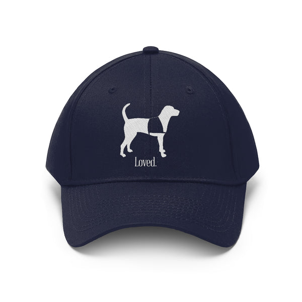 Custom Baseball Hat Navy Blue Service Dog Standing Loved