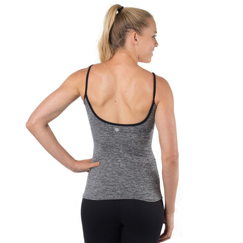 Ballet Bombshell Tank (Heathered Black & White)