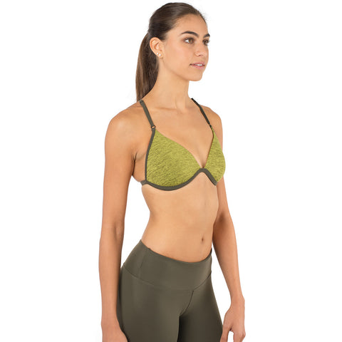 Revelation Bra Heathered Green & Army