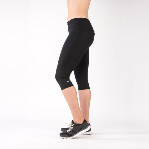 Running Compression Capri Leggings - Black