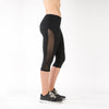 workout capri with mesh running womens