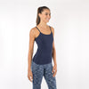FABB Activewear, Women's Workout Tank Top with Built-In Bra. Navy