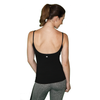 black yoga tank with built in bra for women