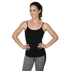 black workout tank top with built in bra