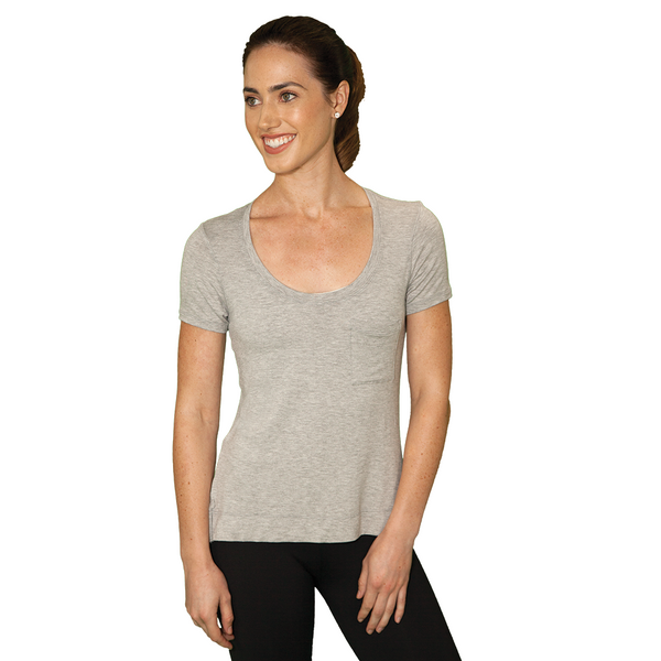 Zen Baby T-Shirt - FABB Activewear - Flowy Workout Top for Women - Light Gray