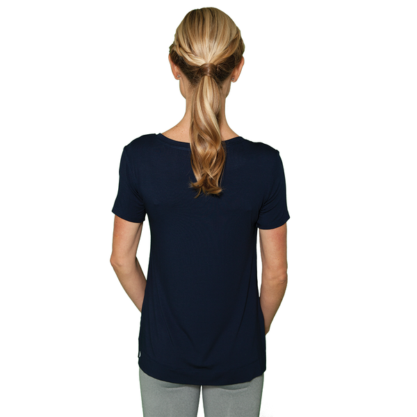 Zen Baby T-Shirt - FABB Activewear - Flowy Workout Top for Women - Navy