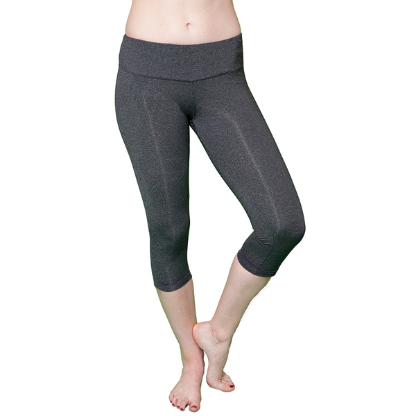Core Sister Crop Pant - Dark Heathered Gray - FABB Activewear