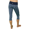 Core Sister Crop Pant - Heathered Navy & White- FABB Activewear