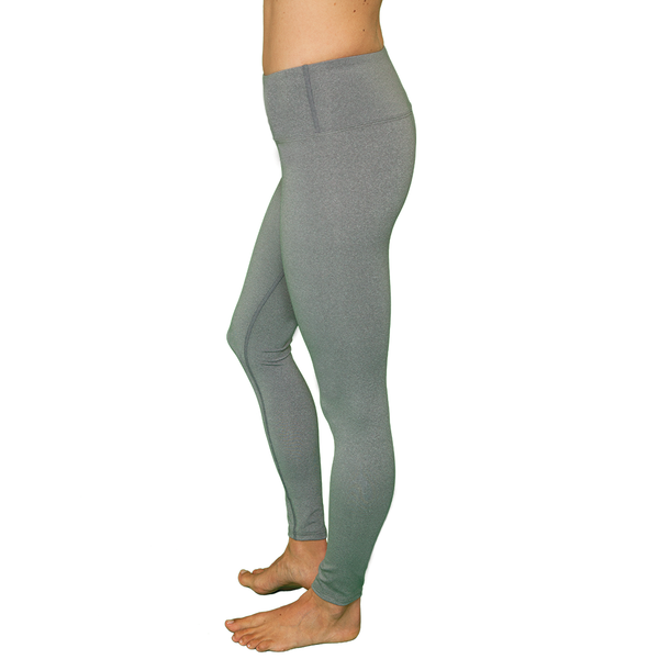 Better Basic Pilates Legging - Heathered Light Gray- FABB Activewear