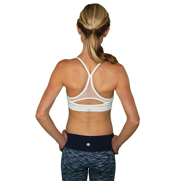 Little Minx Sports Bra - White- FABB Activewear