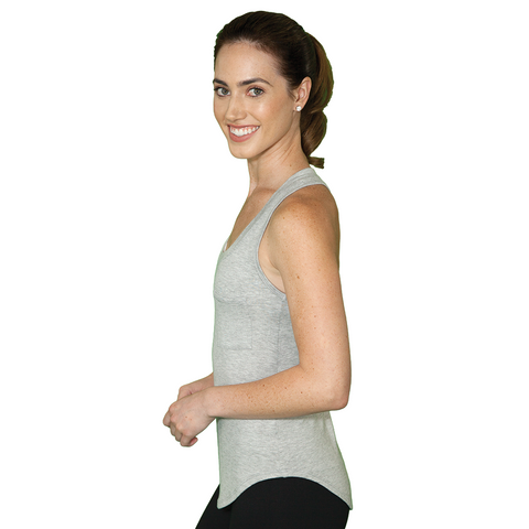 Flowy Yoga Tank Top - Gray