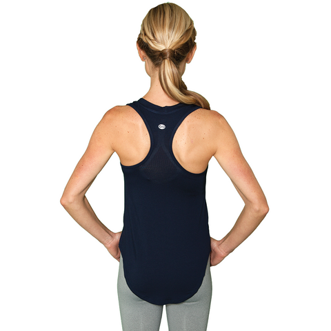 Navy Racerback Tank Top, Flowy Loose-Fit