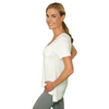 Zen Baby T-Shirt - FABB Activewear - Flowy Workout Top for Women - Whiter