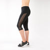 running pants with mesh black