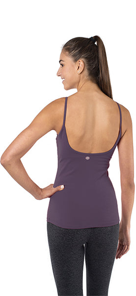 Yoga Top with a Built in Bra - Ballet Bombshell Tank - Purple