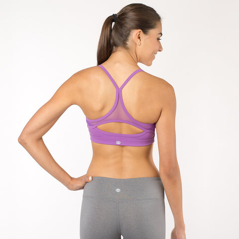 Sports Bra with Mesh - Light Purple