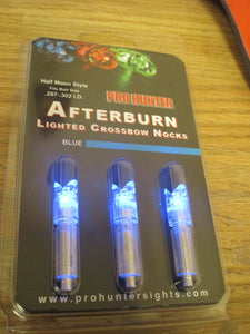 Blue Lighted Crossbow Nocks Afterburn 3 pack