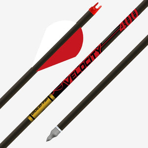6 Velocity 340 Gold Tip Arrows