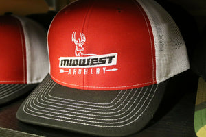 Midwest Archery Red Center Logo Hat