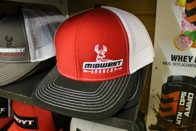 Midwest Archery Red Side Logo Hat