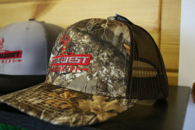 Midwest Archery Realtree Edge Camo Deer Logo Center Hat