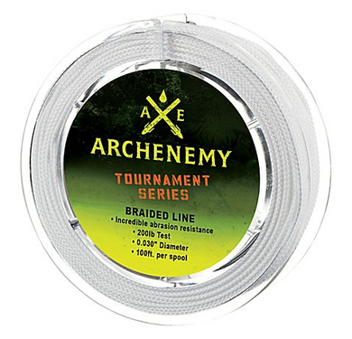 ArchEnemy Tournament Series Braided Bowfishing Line 100' 200#