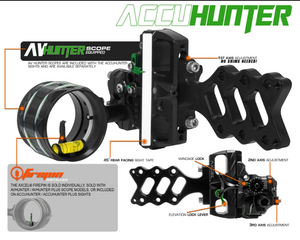 Axcel Accuhunter Single Pin Slider Sight .019