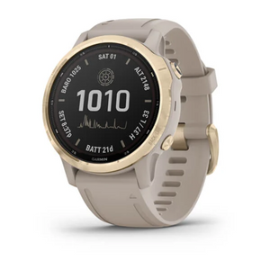 Garmin fēnix® 6S - Pro Solar Edition Light Gold with Light Sand Band