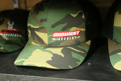 Midwest Archery Camo Hat Red Side Logo